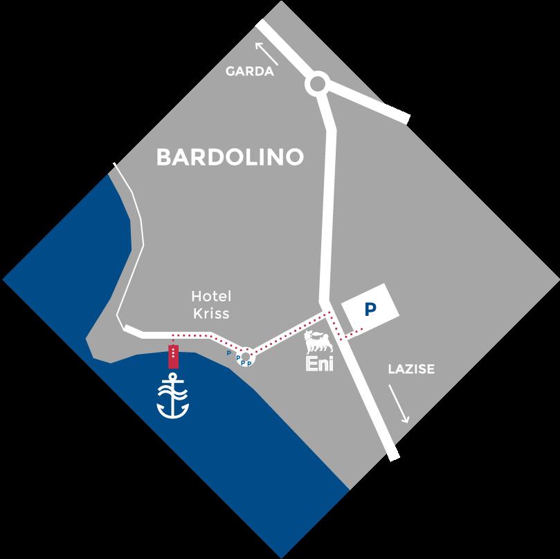 Boat Garda Bardolino Map