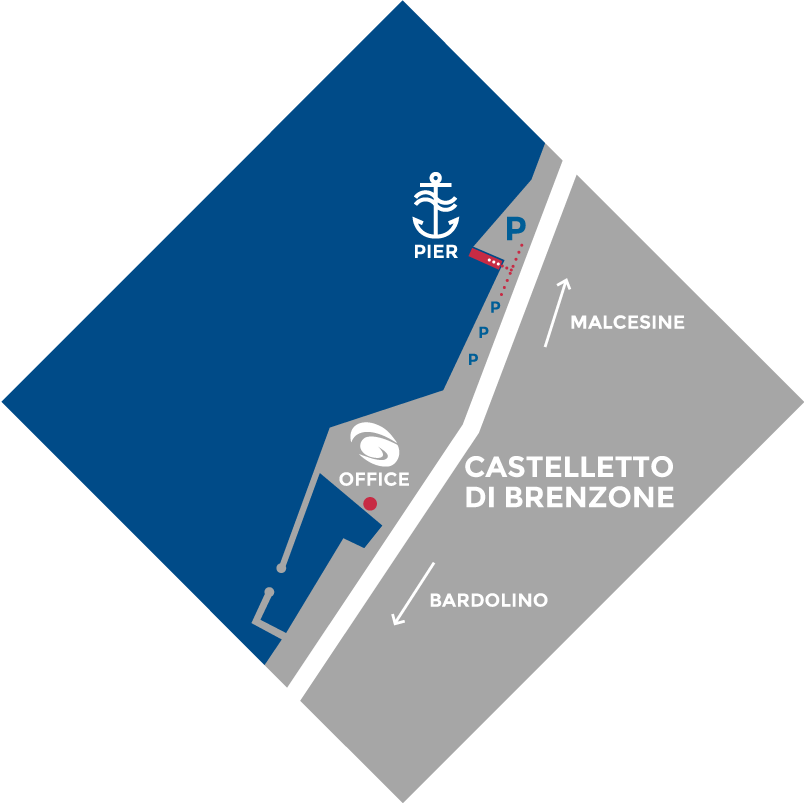 Boat Garda Castelletto Map